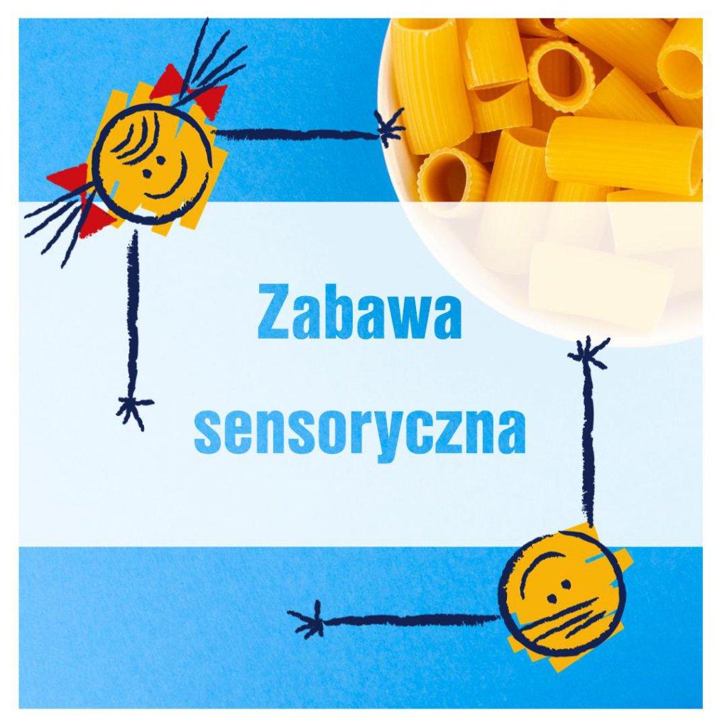 zabawy sensoryczne z makaronem